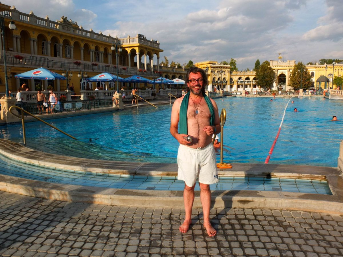 Me at the spa in Budapest