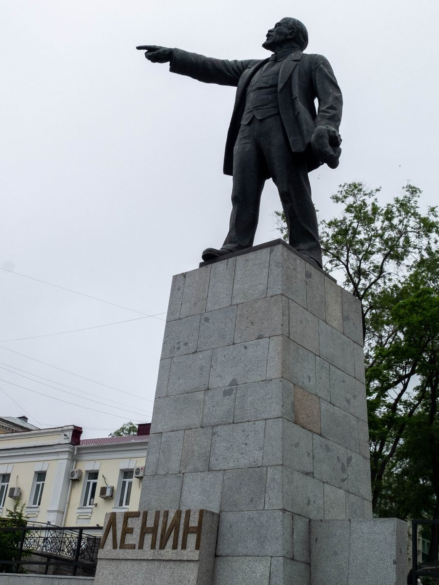 Lenin's statue in Vladivostok
