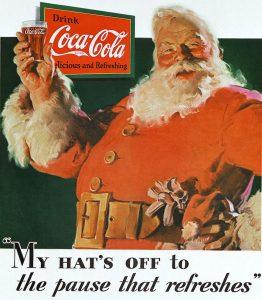 Anúncio de Haddon Sundblom para a Coca Cola