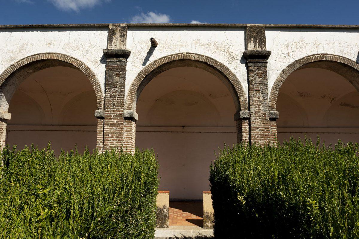 Pormenor do claustro do Mosteiro da Cartuxa
